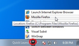 3464ce40b1de7497 - Enable the Quick Launch in Windows 7